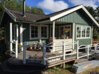 Utvändig målning av villa i Årsta havsbad