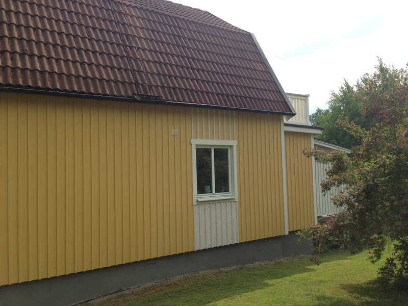 Utvändig målning villa Huddinge